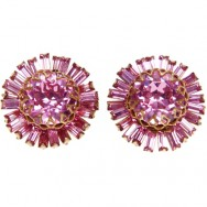 Pink haskell earrings