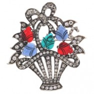 Sterlingbasketbrooch