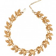 trifari gold leaf neck