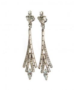 Trifari Art Deco style earrings