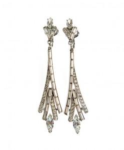 Trifari Art Deco style earrings