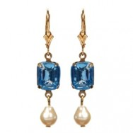Sapphire Georgian Rhinestone Earrings Web
