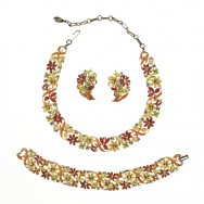 Lisner Enamel Necklace Set