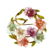 Art floral brooch
