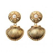 KJL seashell earrings