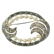 Trifari Art Deco Oval Brooch