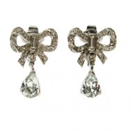 Trifari Bow Drop Earrings
