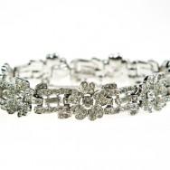 Trifari floral scrollwork bracelet