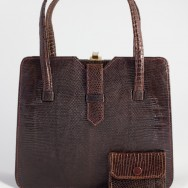1940's Lizard handbag w purse