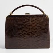 1970's Brown Lizard Bag