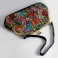 Black Satin Chinese Bag