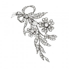 Ciro Sterling Flower Brooch