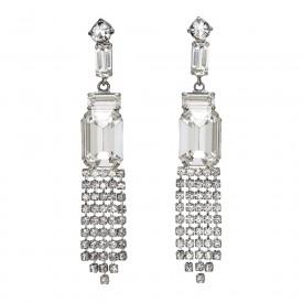 French 1950s Rhinestone Drop Earrings