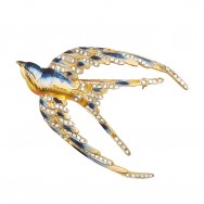Coro Bluebird brooch_F