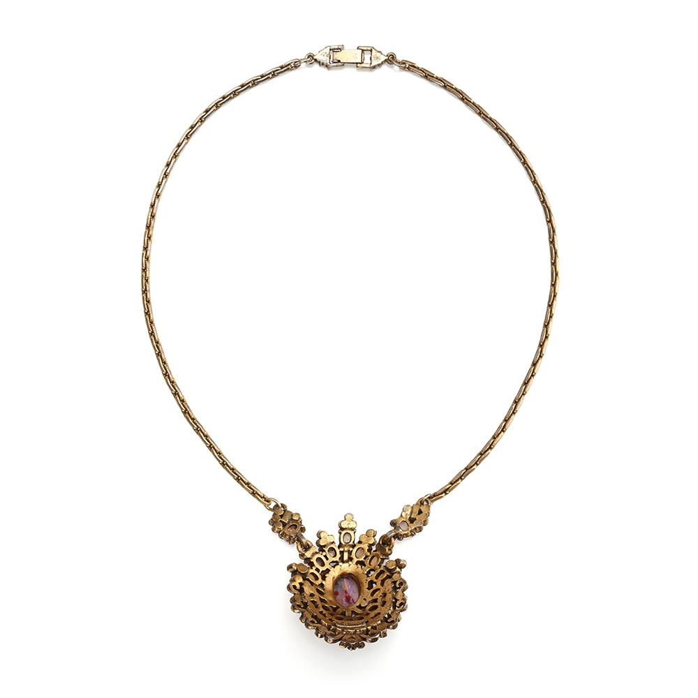 vintage hollycraft opal pendant about vintage